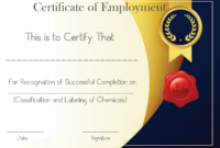 Free Sample Certificate Of Employment Template | Certificate in Sample Certificate Employment Template