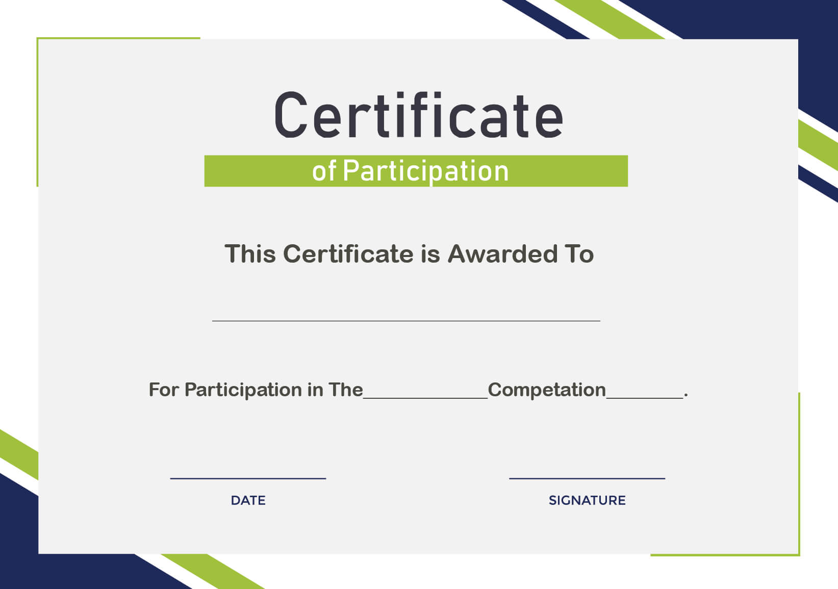 Free Sample Format Of Certificate Of Participation Template In Conference Participation Certificate Template