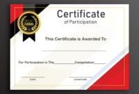 Free Sample Format Of Certificate Of Participation Template with Sample Certificate Of Participation Template
