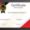 Free Sample Format Of Certificate Of Participation Template Within Conference Participation Certificate Template
