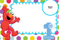 Free Sesame Street 1St Birthday Invitation Template | Elmo within Elmo Birthday Card Template