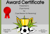 Free Soccer Certificate Maker | Edit Online And Print At Home for Soccer Certificate Templates For Word
