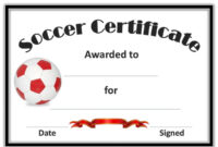 Free Soccer Certificate Templates | Soccer, Certificate for Soccer Award Certificate Template