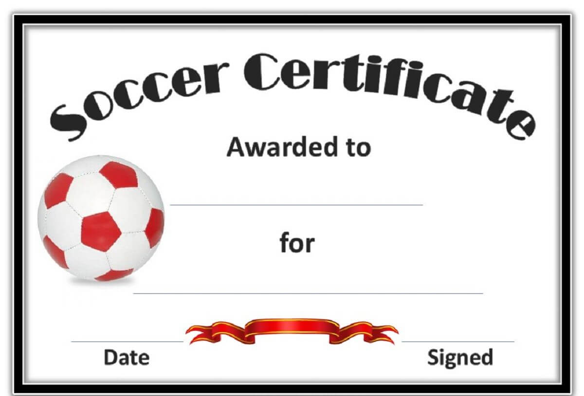 Free Soccer Certificate Templates | Soccer, Certificate Inside Soccer Award Certificate Templates Free