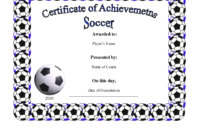 Free Soccer Certificate Templates ] – Soccer Certificate regarding Soccer Award Certificate Templates Free