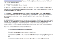 Free Software Development Non-Disclosure Agreement (Nda for Nda Template Word Document