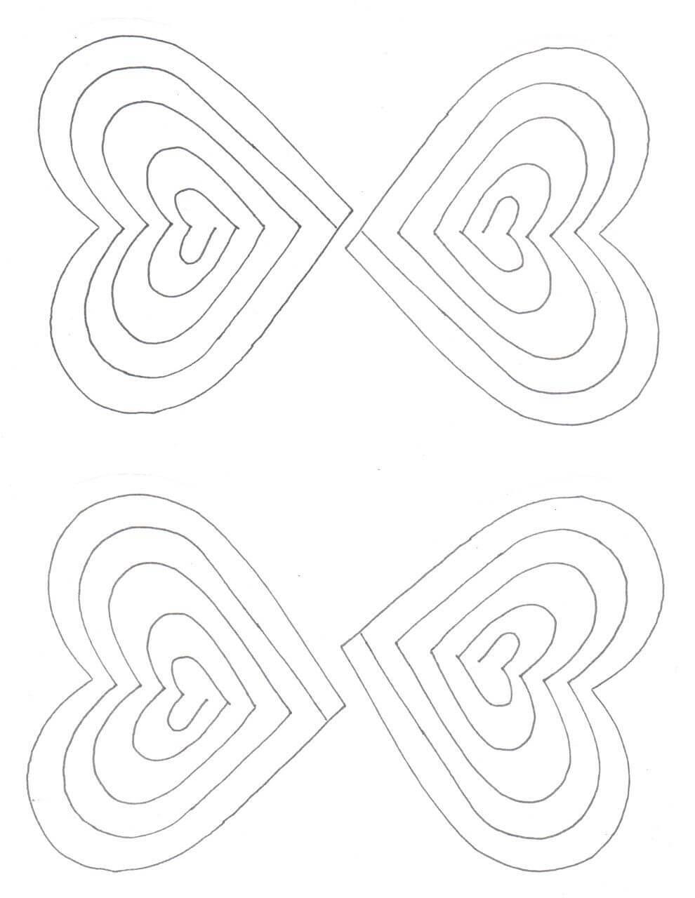 Free Spiral Heart Printable Template | Heart Pop Up Card With Heart Pop Up Card Template Free