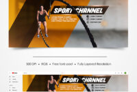 Free Sport Youtube Channel Banner | Free-Psd-Templates for Sports Banner Templates