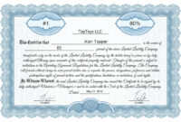 Free Stock Certificate Online Generator for Blank Share Certificate Template Free