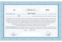 Free Stock Certificate Online Generator intended for Corporate Share Certificate Template