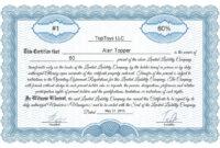 Free Stock Certificate Online Generator within Llc Membership Certificate Template Word