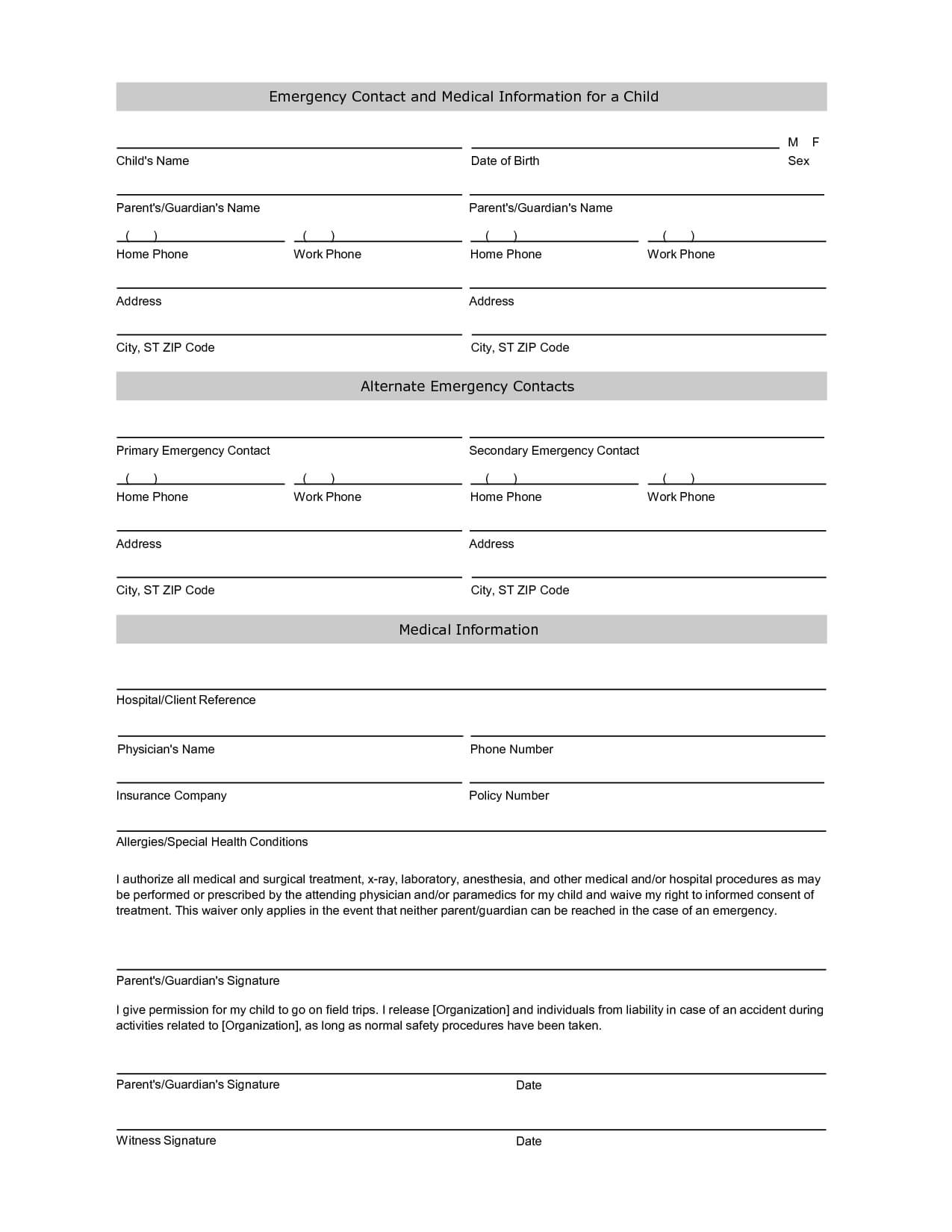 Free Student Information Sheet Template | Student Emergency For Student Information Card Template
