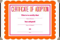 Free Stuffed Animal Adoption Certificate Pet Adoption intended for Pet Adoption Certificate Template