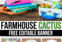 Free Succulent Banner For The Classroom – Cactus Classroom with Classroom Banner Template