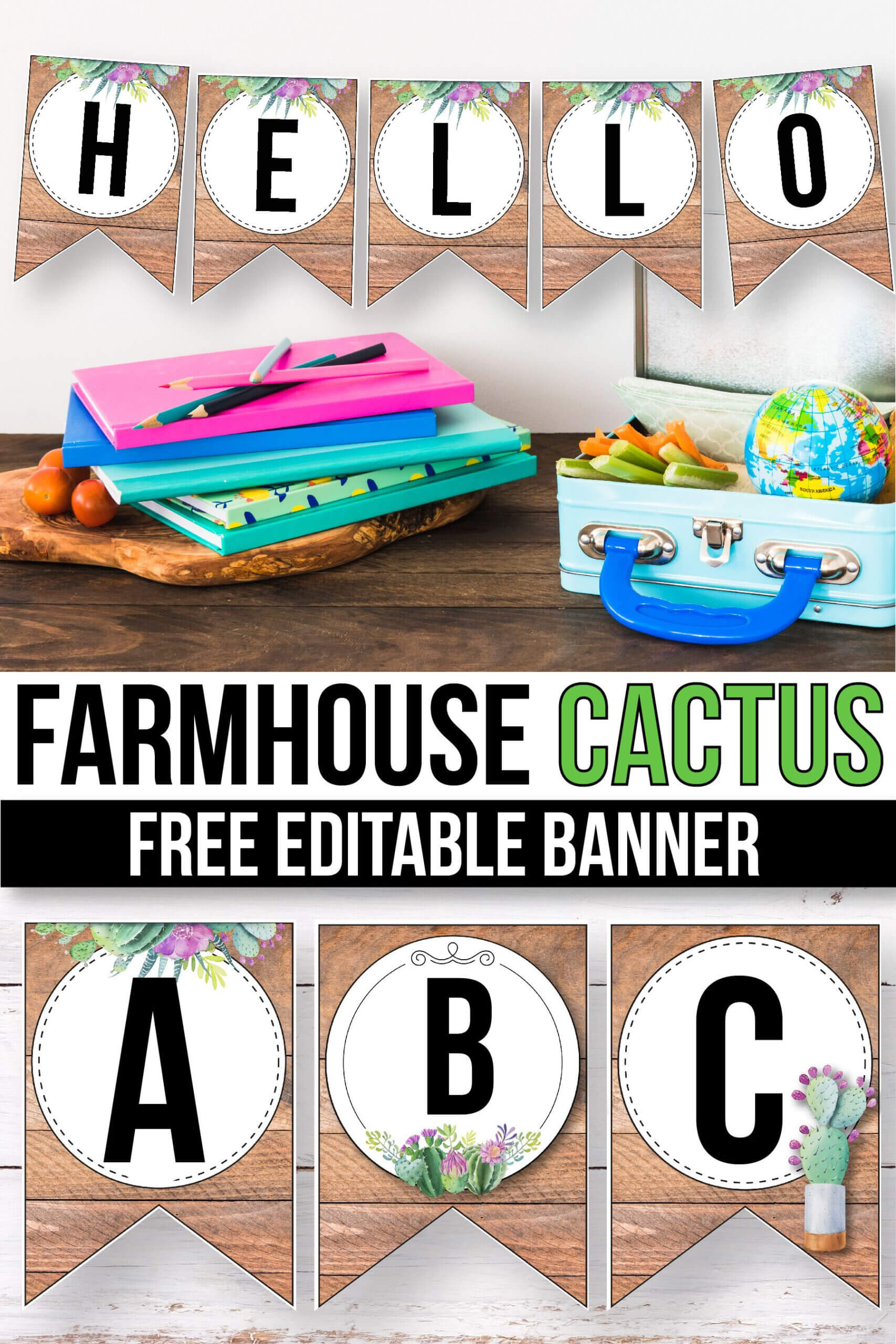 Free Succulent Banner For The Classroom - Cactus Classroom With Classroom Banner Template