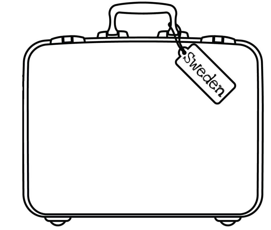 Free Suitcase Coloring Page, Download Free Clip Art, Free With Blank Suitcase Template