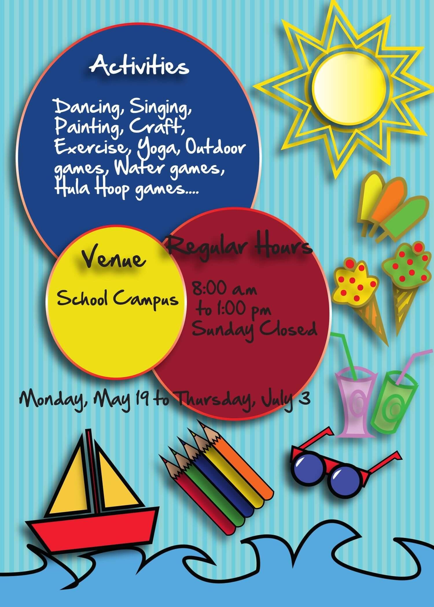 Free Summer Camp Flyer Back | Free Flyer Templates, Summer Inside Summer Camp Brochure Template Free Download