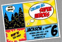 Free Superhero Invitation Templates – Invitation Templates in Superhero Birthday Card Template