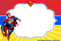 Free Superhero Superman Birthday Invitation Templates – Bagvania in Superhero Birthday Card Template