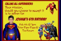 Free Superman Invitations Templates ] – 40Th Birthday Ideas with Superman Birthday Card Template