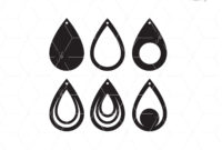 Free Svg Card Templates   Best    Leather Earrings within Free Svg Card Templates