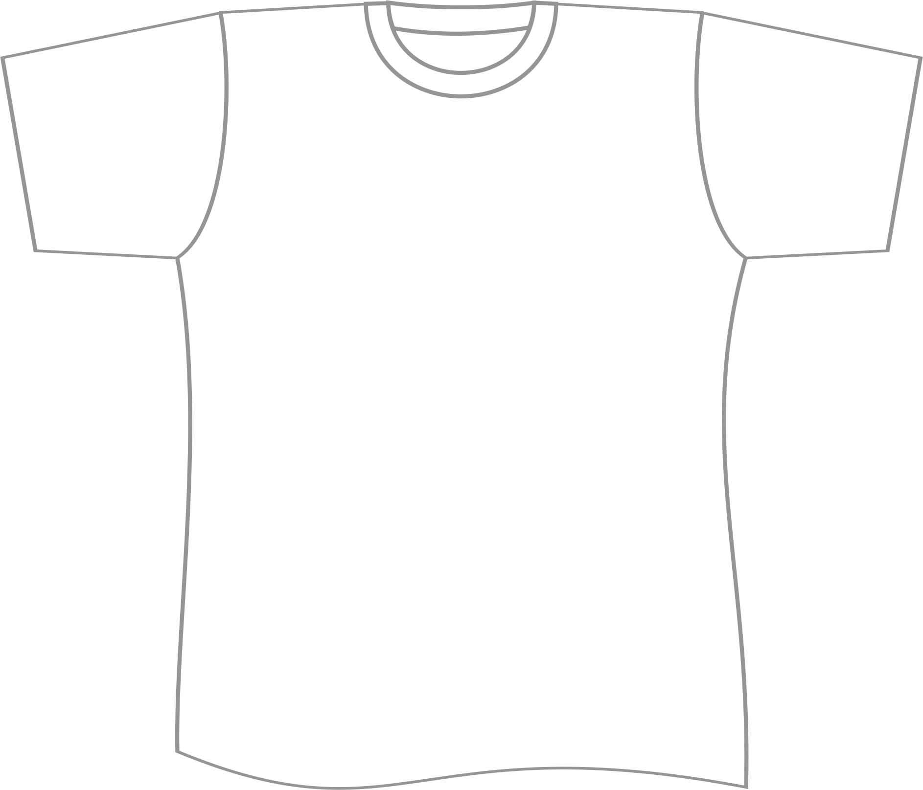 Free T Shirt Template Printable, Download Free Clip Art Within Printable Blank Tshirt Template