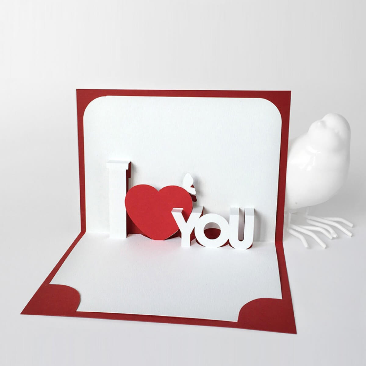 Free Templates With I Love You Pop Up Card Template