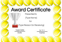 Free Tennis Certificates | Edit Online And Print At Home inside Tennis Certificate Template Free
