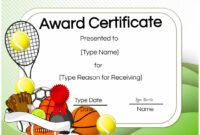 Free Tennis Certificates | Edit Online And Print At Home within Tennis Certificate Template Free