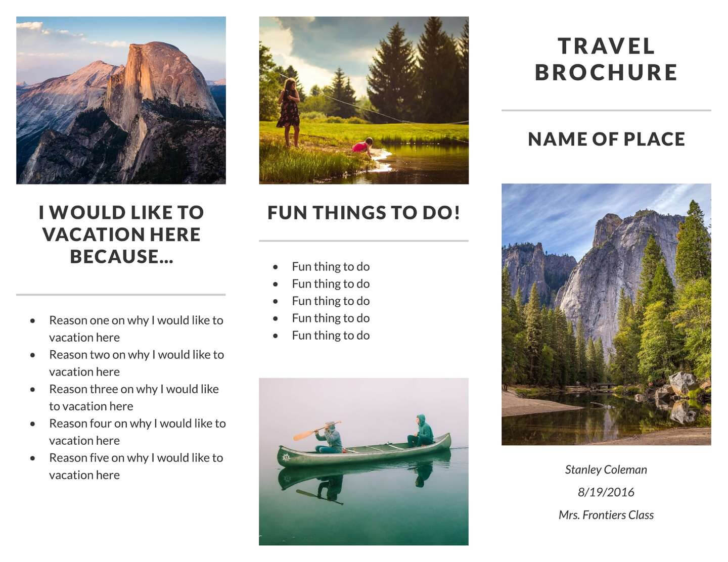 Free Travel Brochure Templates & Examples [8 Free Templates] Inside Travel And Tourism Brochure Templates Free