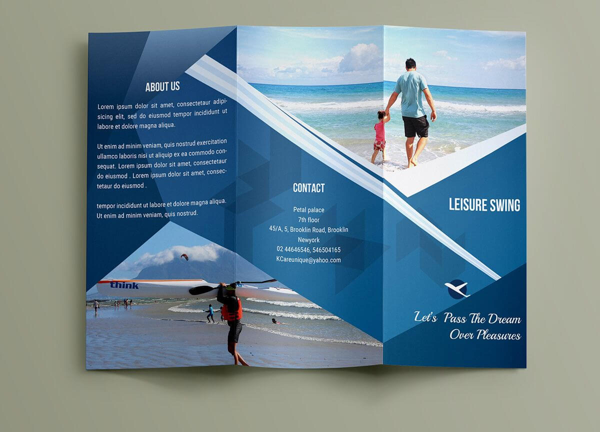 Free Travelling Trifold Brochure Template On Behance Throughout Travel And Tourism Brochure Templates Free