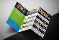 Free Tri-Fold Brochure Template For Events & Festivals – Psd for Tri Fold Brochure Ai Template