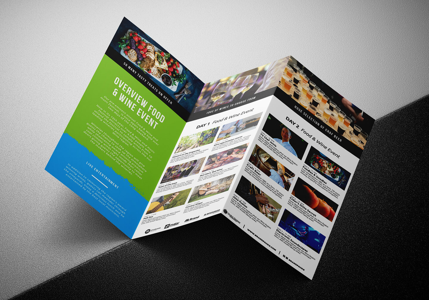 Free Tri Fold Brochure Template For Events & Festivals - Psd Regarding Tri Fold Brochure Template Illustrator