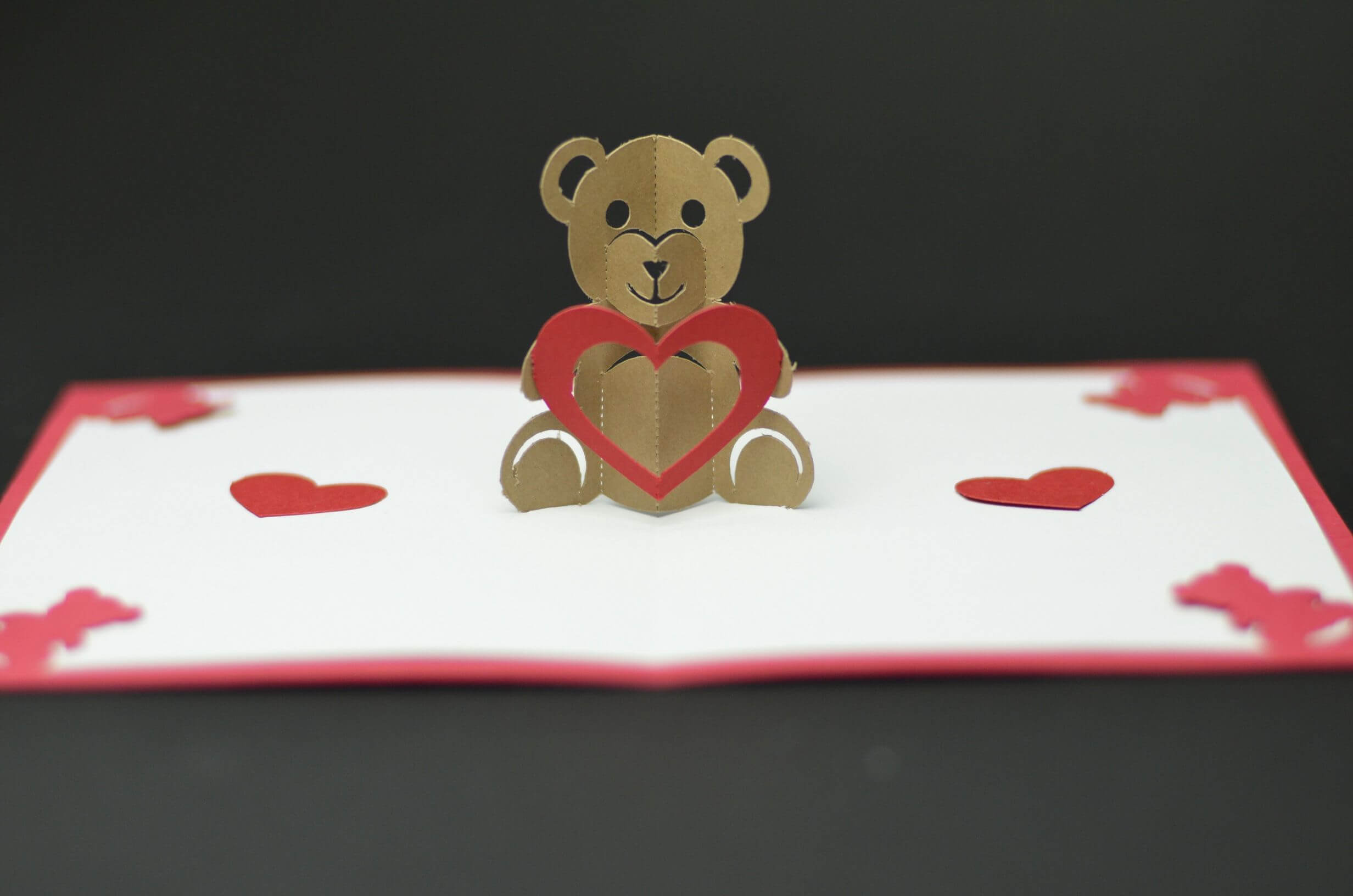 Free Valentines Day Pop Up Card Templates. Teddy Bear Pop Up With Regard To Teddy Bear Pop Up Card Template Free