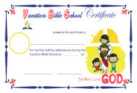 Free Vbs Certificate Templates ] – Bible School Certificate throughout School Certificate Templates Free