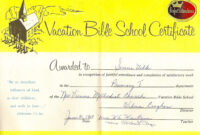 Free Vbs Certificate Templates ] – Bible School Certificate with regard to Free Vbs Certificate Templates