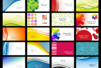 Free Vector Variety Of Dynamic Flow Line Of Business Card Within Templates For Visiting Cards Free Downloads