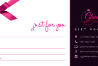 Free Voucher Template Receipt Voucher Template Sample With Nail Gift Certificate Template Free