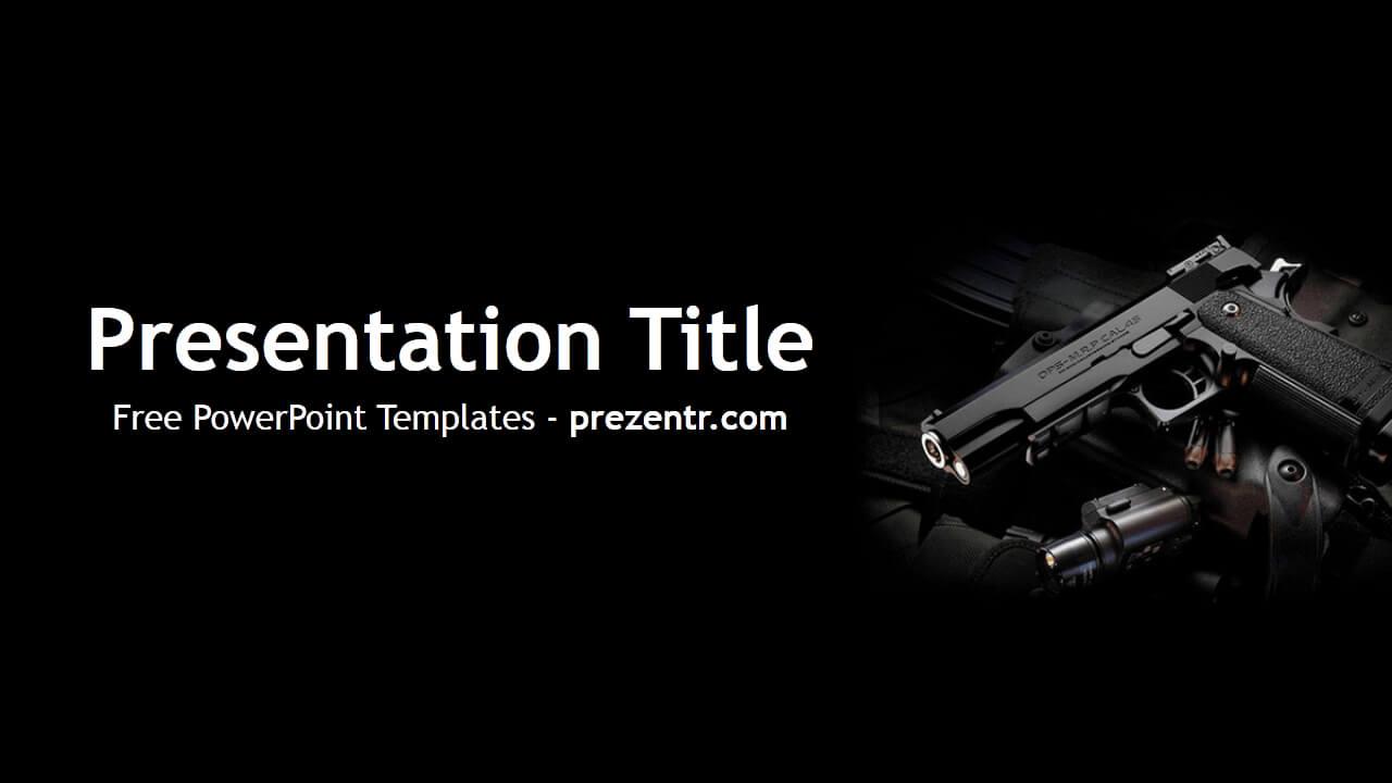 Free Weapon Powerpoint Template - Prezentr Powerpoint Intended For Depression Powerpoint Template