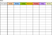 Free Weekly Schedule Templates For Word – 18 Templates within Agenda Template Word 2010