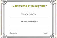 Free Word Certificate Template Lovely Certificate Templates inside Blank Award Certificate Templates Word