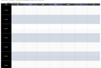 Free Work Schedule Templates For Word And Excel |Smartsheet with Blank Monthly Work Schedule Template