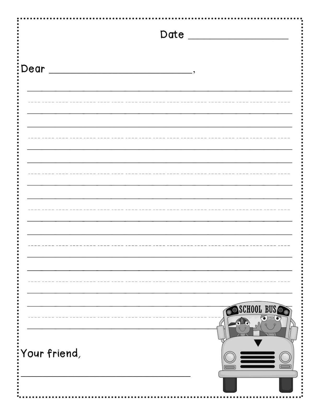 Friendly Letter Writing Freebie - Levelized Templates Up For Regarding Blank Letter Writing Template For Kids