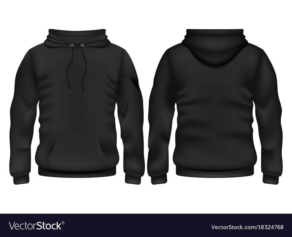 Front And Back Black Hoodie Template Intended For Blank Black Hoodie Template