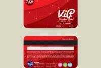 Front And Back Vip Member Card Template throughout Template For Membership Cards