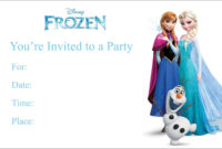 Frozen Birthday Invitations : Frozen Birthday Invitations throughout Frozen Birthday Card Template