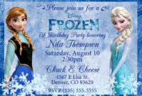 Frozen Birthday Invitations : Frozen Birthday Invitations within Frozen Birthday Card Template