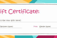 Full Page Gift Certificate Template Fresh Full Page Gift regarding Fillable Gift Certificate Template Free