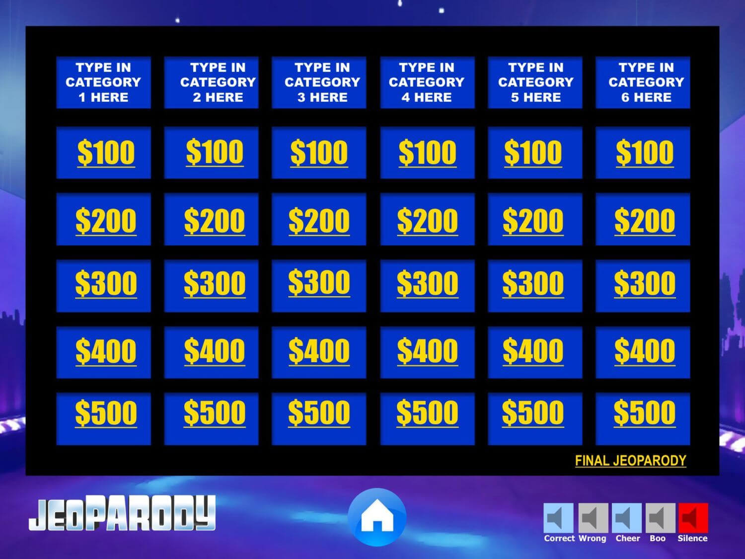 Fully Editable Jeopardy Powerpoint Template Game With Daily Regarding Jeopardy Powerpoint Template With Sound