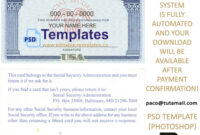 Fully Editable Ssn Usa Psd Template inside Editable Social Security Card Template